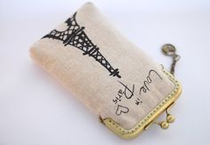 iPhone Case iPhone sleeve gadget case  Love in Paris / by lazydoll, $29.90