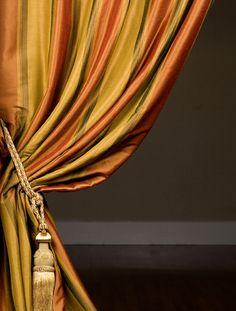 Bengali Silk Stripe Curtains