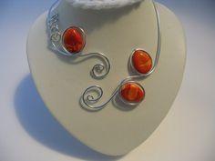 OPEN collier collier orange collier de fil par LesBijouxLibellule, $22.00
