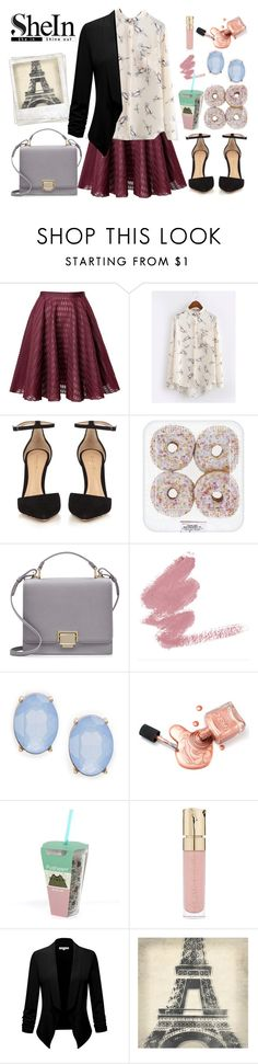 """Untitled #347"" by kat-van-d ❤ liked on Polyvore featuring Giambattista Valli, Gianvito Rossi, Smythson, Cara, Pusheen, Smith & Cult, Polaroid, Leftbank Art and shein"