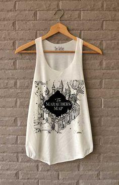 The Marauder's Map Shirt Harry Potter Shirts Tank Top  Women Size  S M L von Teegethershop auf Etsy https://www.etsy.com/de/listing/227168761/the-marauders-map-shirt-harry-potter