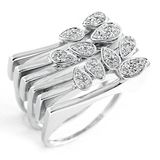 18K White Gold .26 ctw Diamond Ring