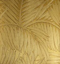 Behang Arte Sabal  Collectie:Arte Monsoon behangcollectie Design name: Sabal behang Kleur: goud Rolbreedte (cm): 70 cm Rollengte: 10 meter Patroonherhaling (cm): verspringende aanzet,64 / 32 cm...