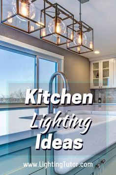Some amazing kitchen lighting ideas to consider during your kitchen remodel. Everything from pendant lighting to under cabinet lighting and even kitchen accent lighting Kitchen Lighting Design, Design Your Kitchen, Kitchen Lighting Fixtures, Light Fixtures, Living Room Lighting, Home Lighting, Lighting Ideas, Pendant Lighting, Accent Lighting