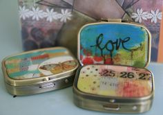 These little pill boxes have been a long-time fave. Sweet + simple, three to choose from!