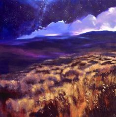 You Are Everything VII, John O'Grady   A moonlit night on the Irish bogland is magical. Grasses and bog heather catch the light, stars twinkle in the big violet-blue sky, clouds shift and roll behind the Wicklow mountains...