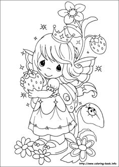 Precious Moments coloring picture... Grandma Carolyn would love this!