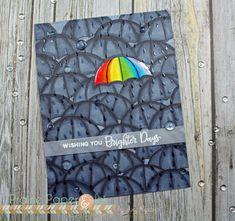 Rainbow Umbrella card using Rainy Days by Pretty Pink Posh
