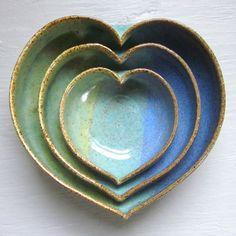 Nesting Bowls Small Blue Green design inspiration on Fab.