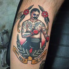 old school boxer tattoos – Tattoo Library Traditional Tattoo Boxer, Traditional Tattoo Quotes, Traditional Tattoo Old School, Traditional Sleeve, Traditional Flash, Finger Tattoos, Left Arm Tattoos, Boxer Tattoo, 4 Tattoo