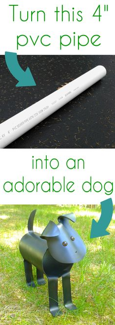WHAT?!  How to make pvc animals from a pvc pipe.  Get the patterns to make a dog, cat, birds and more from CrazyDiyMom