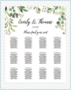 Visit the post for more. Wedding Seating Plan Template, Wedding Program Template Free, Wedding Table Seating, Free Wedding Invitations, Seating Chart Template, Wedding Templates, Seating Charts, Wedding Invitation Templates, Menu Template