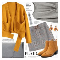 """""""Check It: Plaid"""" by katjuncica ❤ liked on Polyvore featuring H&M and Urban Decay"""