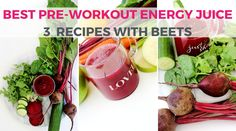 for Pre-Workout Fuel: 3 All-Natural Homemade Drink Recipes How to Make the Best Pre-Workout Drink with Beets Beets: will give you an incredible boost of energy so you can get through your next workout effortlessly! Natural Pre Workout Drink, Pre Workout Energy Drink, Best Pre Workout Drink, Good Pre Workout, Workout Drinks, Post Workout Snacks, Workout Tips, Workouts, Homemade Protein Shakes