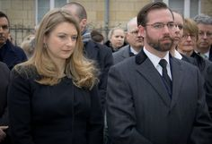 Prince Guillaume and Princess Stephanie visits the Belgian Embassy