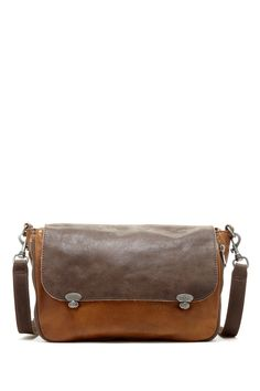 """Olivia 2D Material Mix Messenger Bag in beige by Liebeskind Berlin $278 - $129 at HauteLook. - Detachable, adjustable shoulder strap - Foldover flap with 2 tun-lock closures - Exterior features zip front pocket and zip outlet - Interior features zip wall pocket and 2 media pockets - Dust bag included - Approx. 10"""" H x 14"""" x 5"""" D - Approx. 20-25"""" strap drop Leather exterior, cotton lining"""