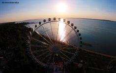 Óriáskerék Siófok Ferris Wheel, Cities, Buildings, Landscapes, Fair Grounds, Tours, Nature, Travel, Paisajes