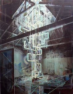 Tom Ormond - Reconstructed Monument to the Future - Oil on linen