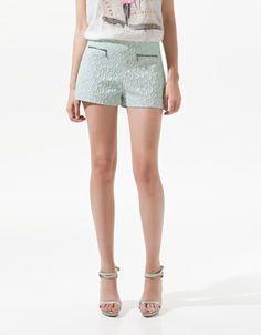 JACQUARD PATTERN SHORTS - Trousers - Woman - SALE - ZARA Taiwan