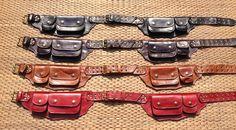 Leather Utility Belt - The Traveler - Fanny Pack, Festival Belt, Travel belt bag – Thai Artist Collective