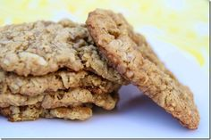Coconut Peanut Butter Oatmeal Cookies (gluten and dairy free)