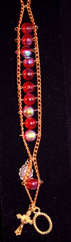 Iridescent Red Ladder Rosary