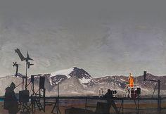 Ellen Karin Maehlum (Norway) - Observed - 79N, dry point, stencil and karborundum, 2014. 66 × 98 cm. Honourable Mention on THE INTERNATIONAL PRINT TRIENNIAL – KRAKOW 2015