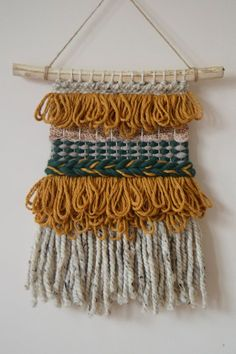 Woven Wall Hanging Mustard Wall Hanging Woven Tapestry by midgins