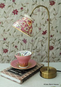 Tea cup table lamp | cake stand heaven