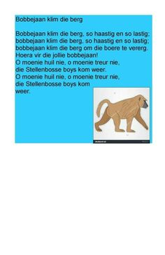 . Animals Name In English, My Land, Kids Songs, Afrikaans, Nursery Rhymes, Pre School, Early Childhood, Kids Learning, Book Lovers