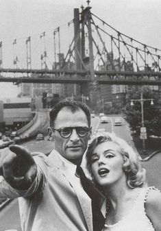 Marilyn Monroe and her third husband, the only love of her life, Arthur Miller.