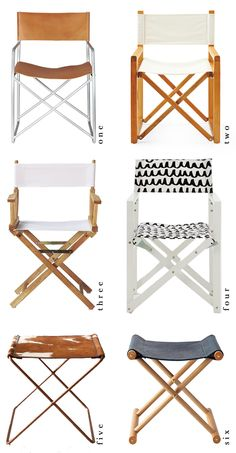 the HUNTED INTERIOR: Director's Chairs // Making the Cut