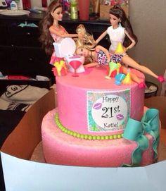Birthday Barbie Cakes For Girls Drunk Barbie Cake, Barbie Birthday Cake, Guys 21st Birthday, 21st Bday Ideas, 21st Birthday Cakes, Birthday Fun, Birthday Ideas, Bithday Cake, 21st Party