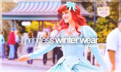 princess winter wear (too bad this wasn't a picture of Belle in her winter outfit...)