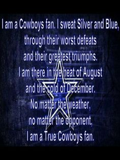 Dallas Cowboys!! TRUE FAN HERE!