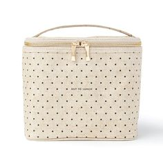 Buy Kate Spade: Out To Lunch Tote online and save! Kate Spade: Out To Lunch Tote Brown-bagging it has never looked so gourmet! this lunch tote's coated-linen cover is complemented by an insulated inte. Lunch Box Set, Cool Lunch Boxes, Kate Spade, Sac Lunch, Adult Lunch Bag, Reusable Lunch Bags, Boite A Lunch, Insulated Lunch Box, Out To Lunch