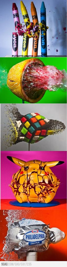 9GAG - Awesome splashing objects