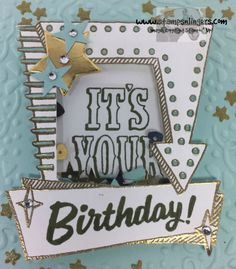 Marquee Messages Shaker Birthday 5 - Stamps-N-Lingers