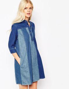 MiH Jeans   Mih Jeans Denim Button Up Dress at ASOS