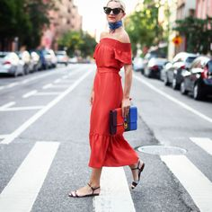 lady in red #nystreetstyle