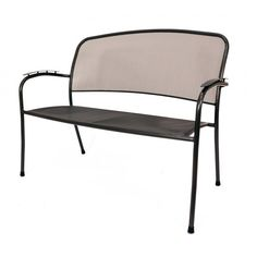 Our Carlo Bench has a titanium iron gray finish with black feet and a mesh seat and back. The electrotherm protective finish resists scratching, peeling, fading and chipping. This bench has the ability to remain 30% cooler and warmer to the touch after long exposure. Order online today at http://contractfurniture.com/product_detail.php?prodID=8781 or call us 800.507.1785
