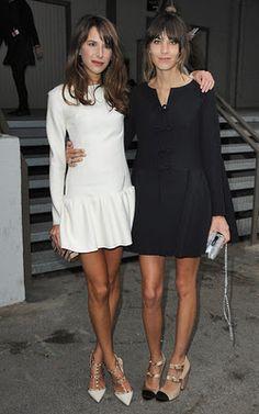 Caroline Seiber & Alexa Chung.  Love the simple dresses and fierce shoes  Me encanta la sencillez, elegacia y femenidad que brindan los dos vestidos, solo un buen par de tacones