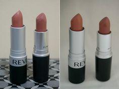 Jello Beans: Lipstick Dupe Alert: MAC Velvet Teddy vs Revlon Ma...