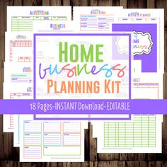 home business planner printable etsy business planner work at home organization bright bussiness planner