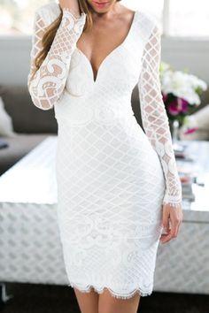 Vendetta lace top bodycon midi dress