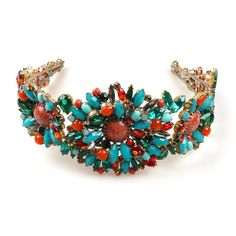 Empress ~ Headband Tiara. Extraordinary multicolor rhinestone tiara headband  made from Czech Preciosa crystal stones and components. $139.90