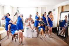 Love the sense of humor from this bridal party!