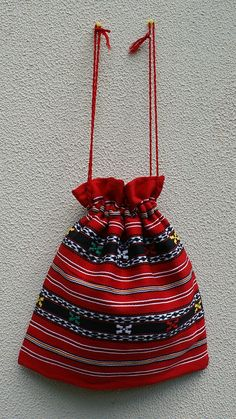 traditional romanian motive sac Drawstring Bags, Romania, Bucket Bag, Branding, Traditional, Brand Management, Identity Branding
