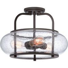 """Trilogy 3 Light 16"""" Wide Semi-Flush Ceiling Fixture with Seedy Glass and Vintage Edison Bulbs. (n.d.). Retrieved March 1, 2015, from http://www.lightingdirect.com/quoizel-trg1716-trilogy-3-light-16-wide-semi-flush-ceiling-fixture-with-seedy-glass-and-vintage-edison-bulbs/p2302193"""