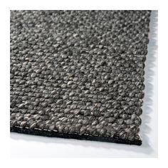 HJORTHEDE Matta, grå handgjord grå